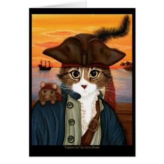 Capitão Leo, gato do pirata & cartão da arte da