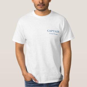 Capitão personalizado básico T - camisa feita sob a9c9ab4c4b423