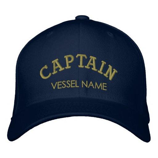 Capitão personalizado Chapéu do nome do barco Bonés