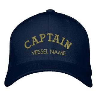 Capitão personalizado Chapéu do nome do barco Boné Bordado