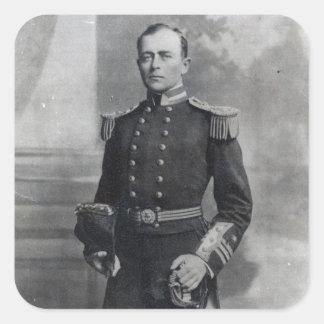 Capitão Robert Falcão Scott Adesivos Quadrados