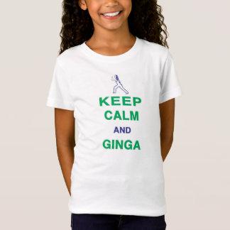 Capoeira: Mantenha a calma e o Ginga Camiseta