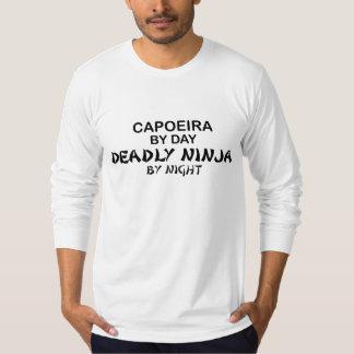 Capoeira Ninja mortal em a noite T-shirts
