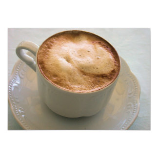 Cappuccino, café italiano convite personalizados