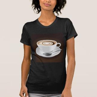 Cappuccino com redemoinho camisetas