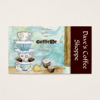 Cappuccino da cafetaria, cartões do café n Latte