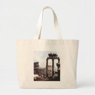 Capricho com o Colosseum por Bernardo Bellotto Sacola Tote Jumbo