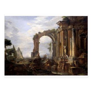 Capricho de ruínas clássicas Giovanni Paolo Panini Cartão Postal