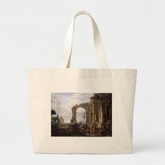 Capricho de ruínas clássicas Giovanni Paolo Panini Sacola Tote Jumbo