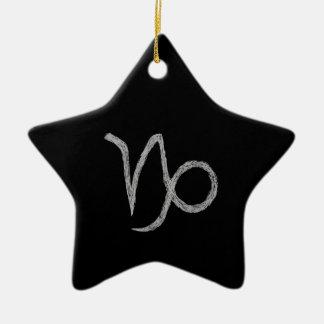 Capricórnio. Sinal da astrologia do zodíaco. Preto Ornamento