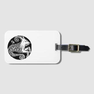 Capricórnio - Tag da bagagem do zodíaco Etiqueta De Bagagem