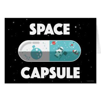 Cápsula de espaço cartão comemorativo
