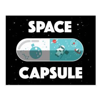 Cápsula de espaço cartão postal