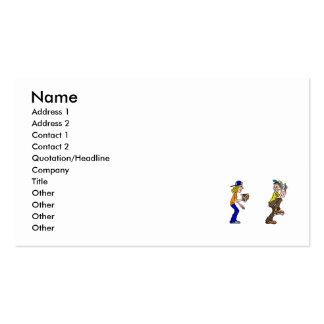Captura do menino & da menina cartão de visita