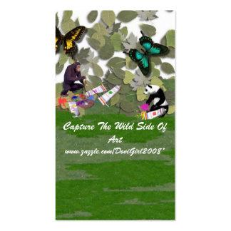 Capture o cartão de visita lateral selvagem