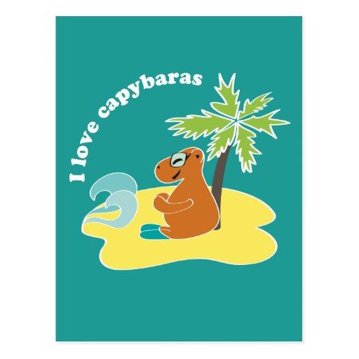 Capybara Cartoes Postais