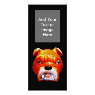Cara 5 do buldogue do cartão Template1 da cremalhe Panfleto Personalizado