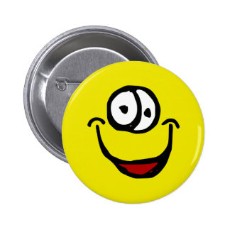 cara aberta grande do sorriso dos desenhos animado bóton redondo 5.08cm