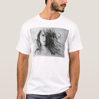 Cara abstrata camiseta