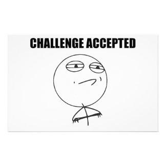 Cara aceitada desafio Meme cómico da raiva Papelaria