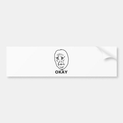 Cara aprovada Meme Adesivos