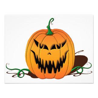 Cara assustador da abóbora do Dia das Bruxas Convite Personalizados