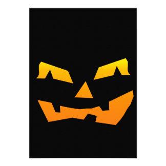 Cara assustador da abóbora do Dia das Bruxas da la Convite