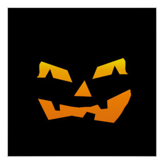 Cara assustador da abóbora do Dia das Bruxas da la Pôsteres