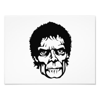 Cara assustador do monstro do zombi impressão de foto