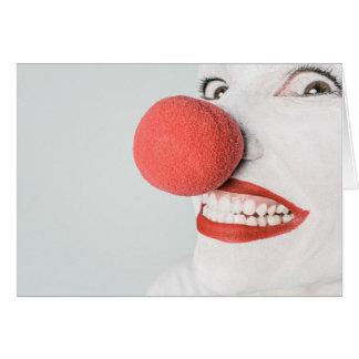 Cara assustador do palhaço - cartão vazio