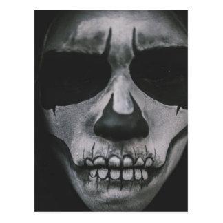 Cara assustador preta & branca… cartão postal