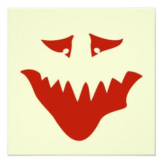 Cara assustador vermelha. Monstro Convites Personalizado