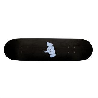 Cara azul do elefante. Desenhos animados Skates Personalizados