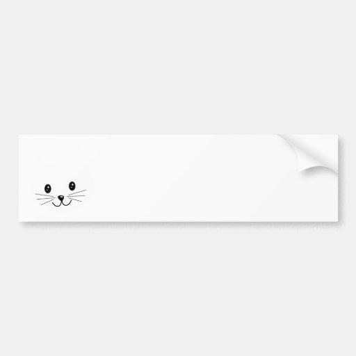 Cara bonito do gato adesivos