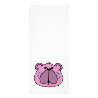 cara bonito do urso do estilo country 10.16 x 22.86cm panfleto