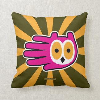 Cara da coruja travesseiros de decoração