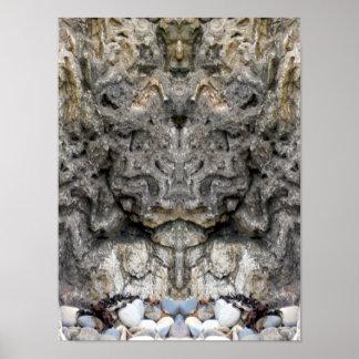 """Cara da """"do poster da cara rocha"""" da natureza"""