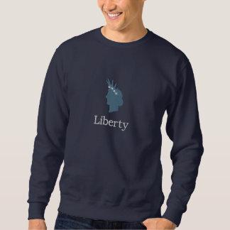 Cara da estátua da liberdade com a coroa das suéter bordado