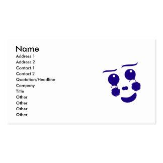 Cara da forma do divertimento do palhaço dos cartão de visita