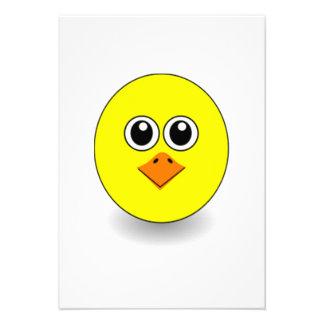 Cara da galinha dos desenhos animados convite personalizado