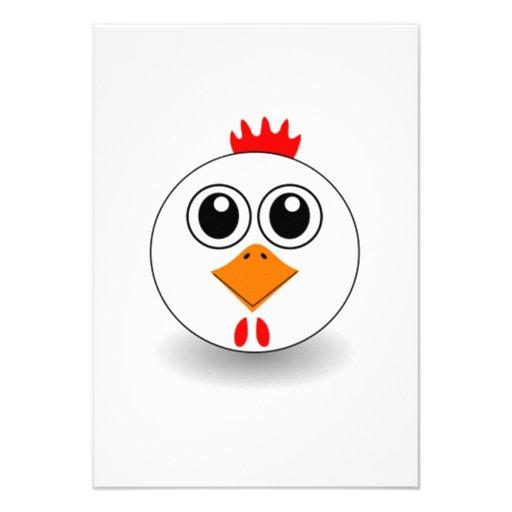 Cara da galinha dos desenhos animados convite