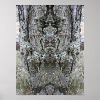 """Cara da natureza """"rainha poster das árvores"""""""