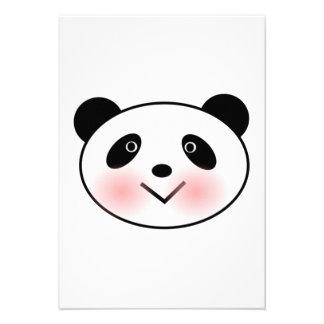 Cara da panda dos desenhos animados convites personalizados