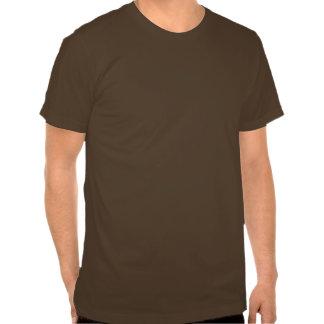 Cara de CSI no marrom Camisetas
