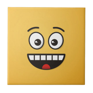 Cara de sorriso com boca aberta