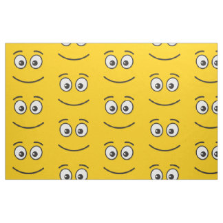 Cara de sorriso com olhos abertos tecido