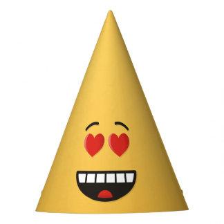 Cara de sorriso com olhos Coração-Dados forma Chapéu De Festa