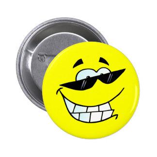 Cara de sorriso em vidros de Sun Bóton Redondo 5.08cm