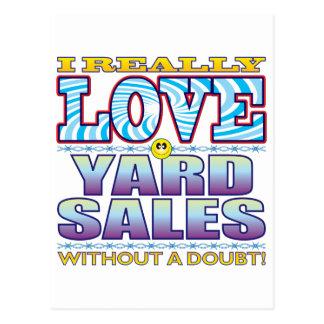 Cara do amor das vendas de jardim cartão postal