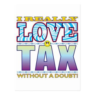Cara do amor do imposto cartão postal
